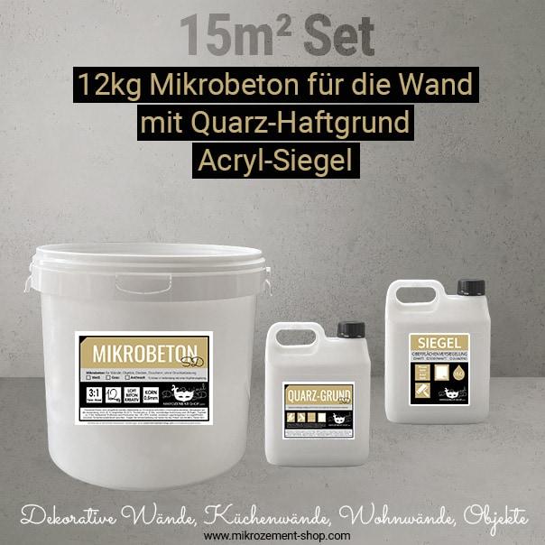 Mikrobeton-Set Acryl-Siegel und Quarz-Haftgrund