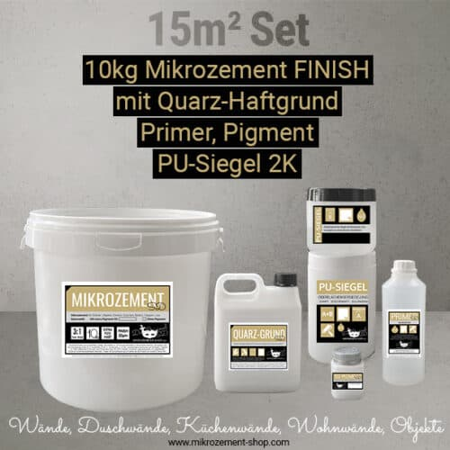 Mikrozement FINISH Set Dusche Nasszellen