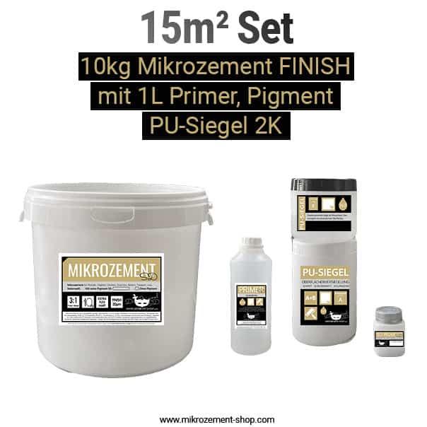 Mikrozement Set primer, FINISH PU-Siegel