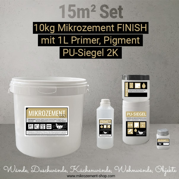 Mikrozement Set primer, FINISH PU-Siegel