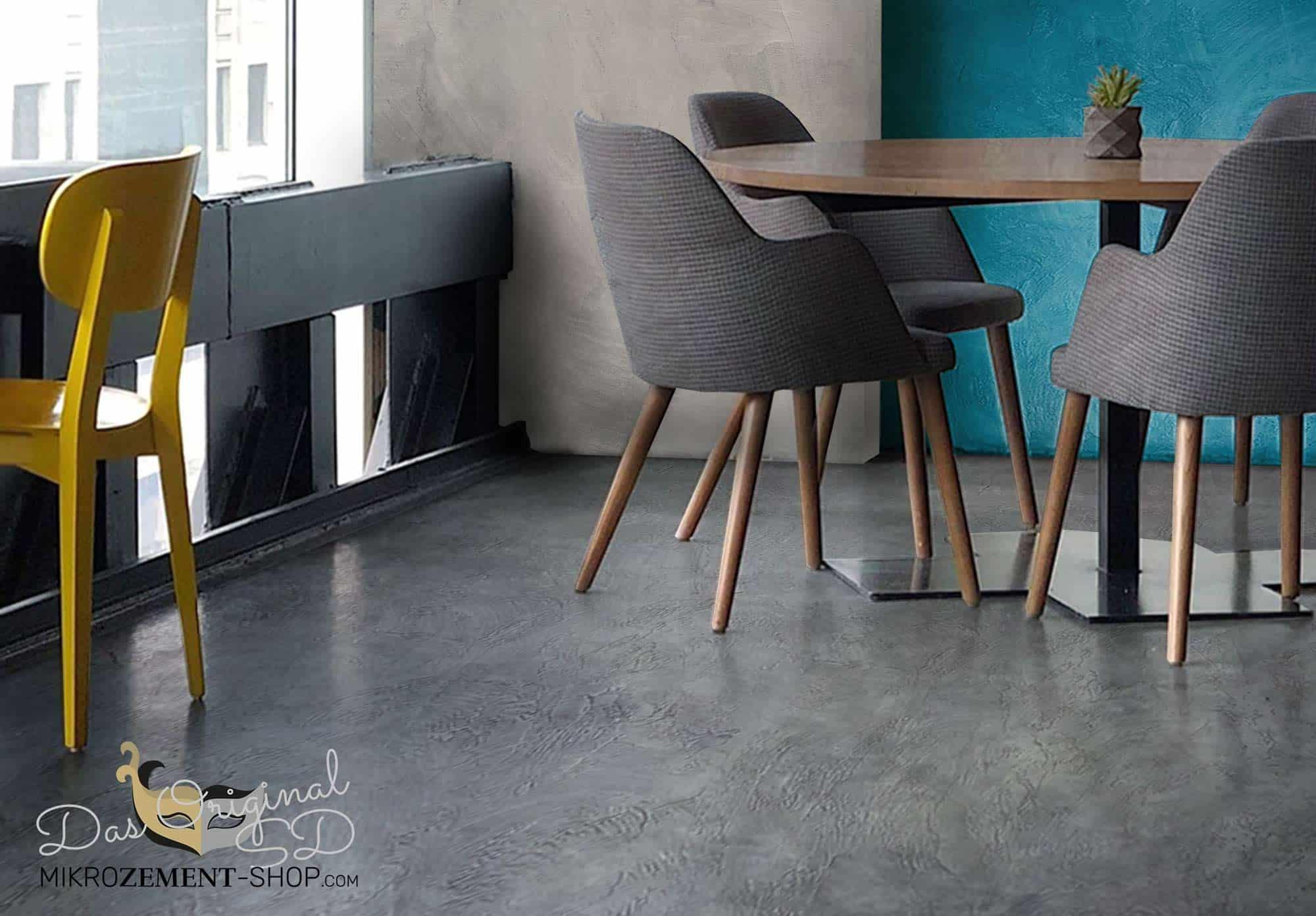 Mikrozement Boden und Wand im Cafe