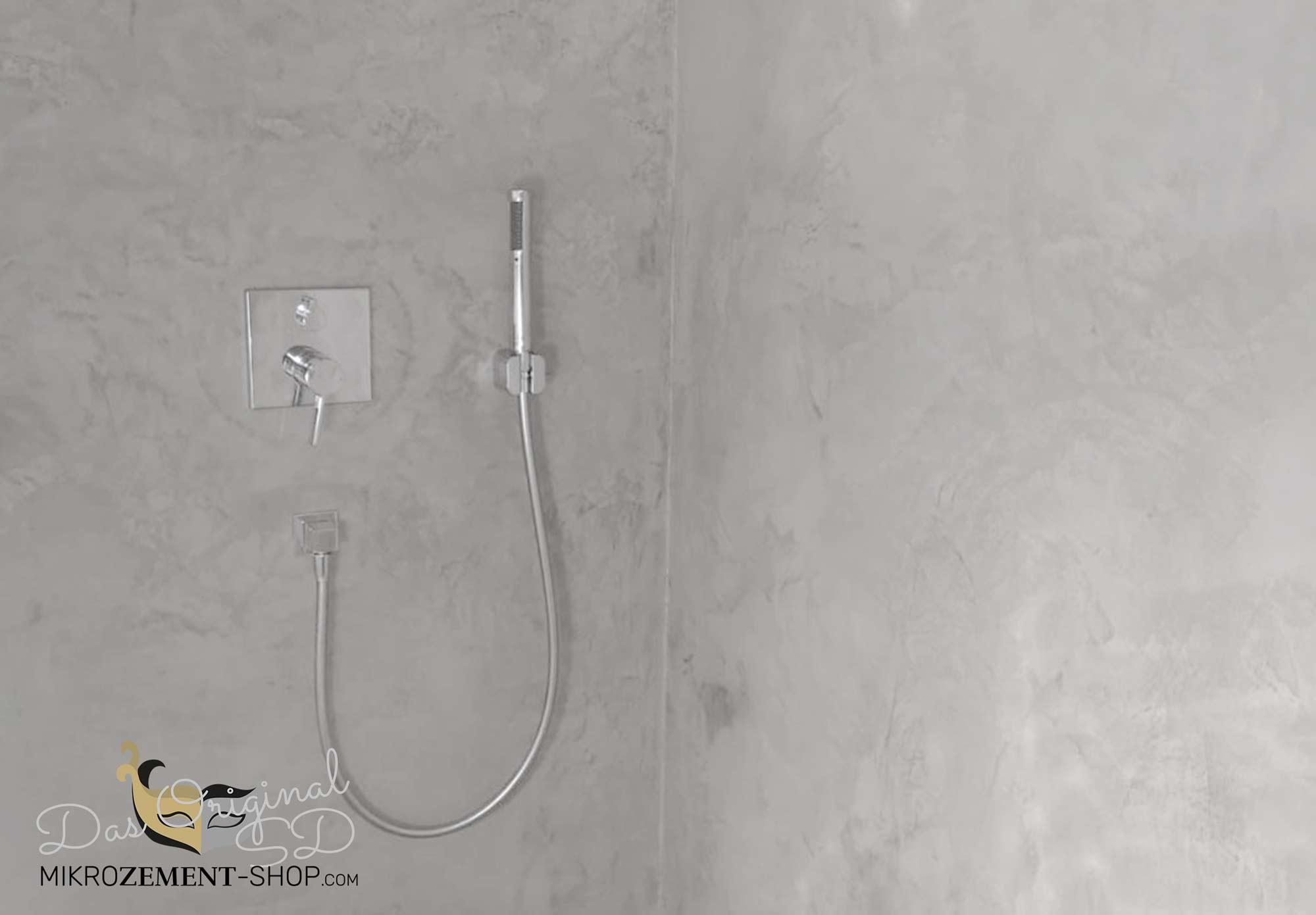 Mikrozement in der Dusche