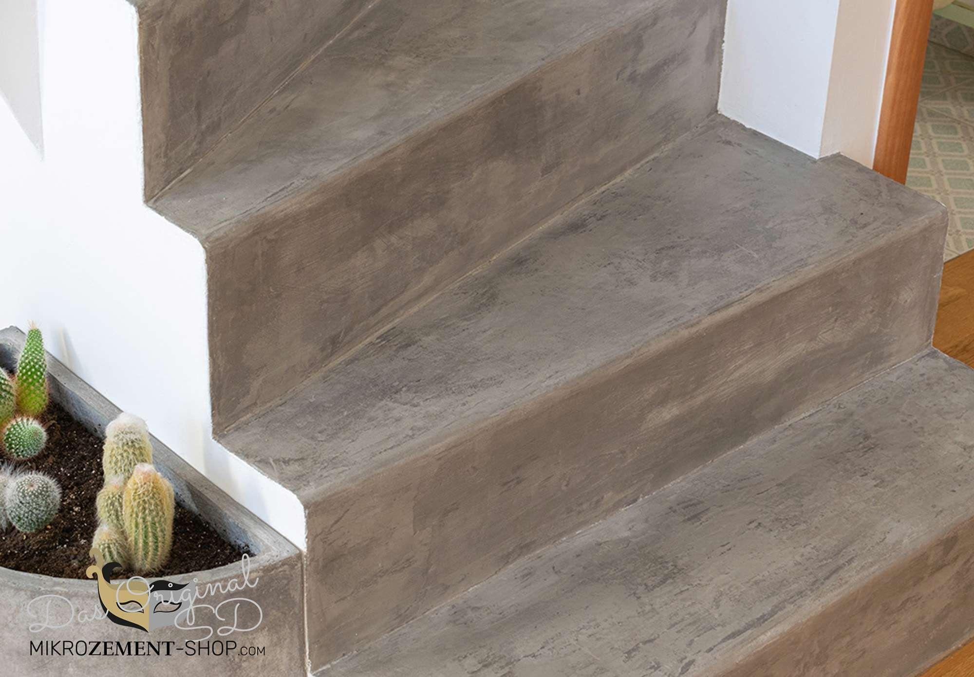 Mikrozement in Treppenhäuser ist extrem stabil