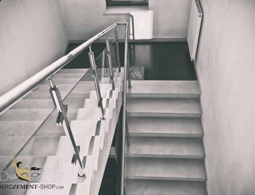 Microzement, Mikrozement auf Treppen aller Art