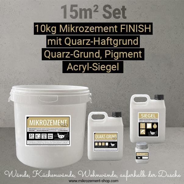 Mikrozement Set primer, FINISH Acryl-Siegel