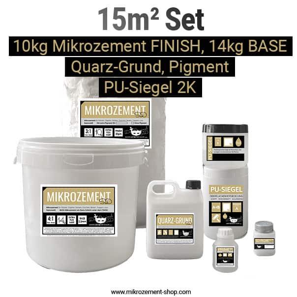 Mikrozement Set 15M2 mit Quarzgrundierung