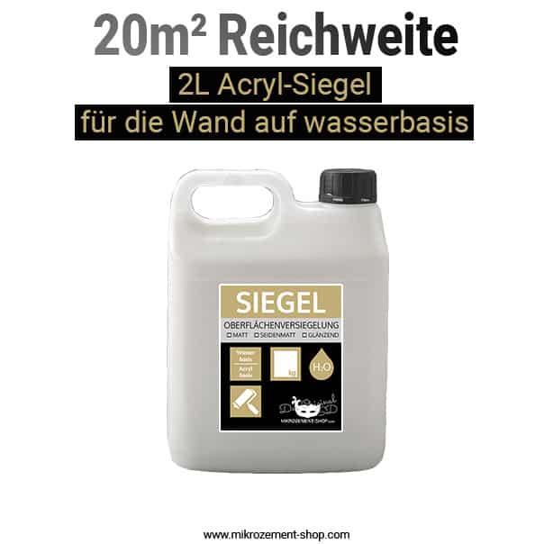 Acryl-Siegel 20m2 Reichweite