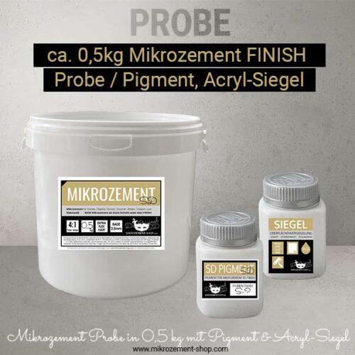 Mittlere Mikrozement Probe mit Pigment und Siegel