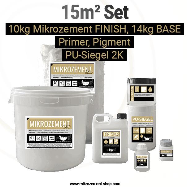 Universal Mikrozement mit Primer, Siegel und FINISH / BASE