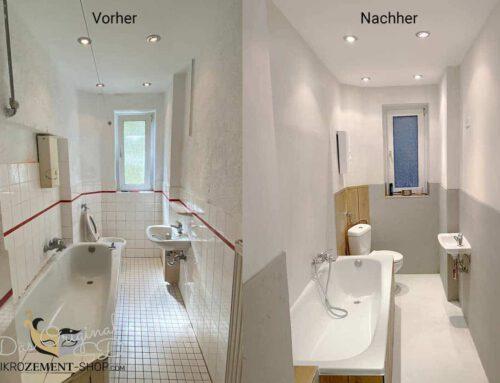 Mikrozement im Bad (Altbausanierung) Fertig in einer Woche!