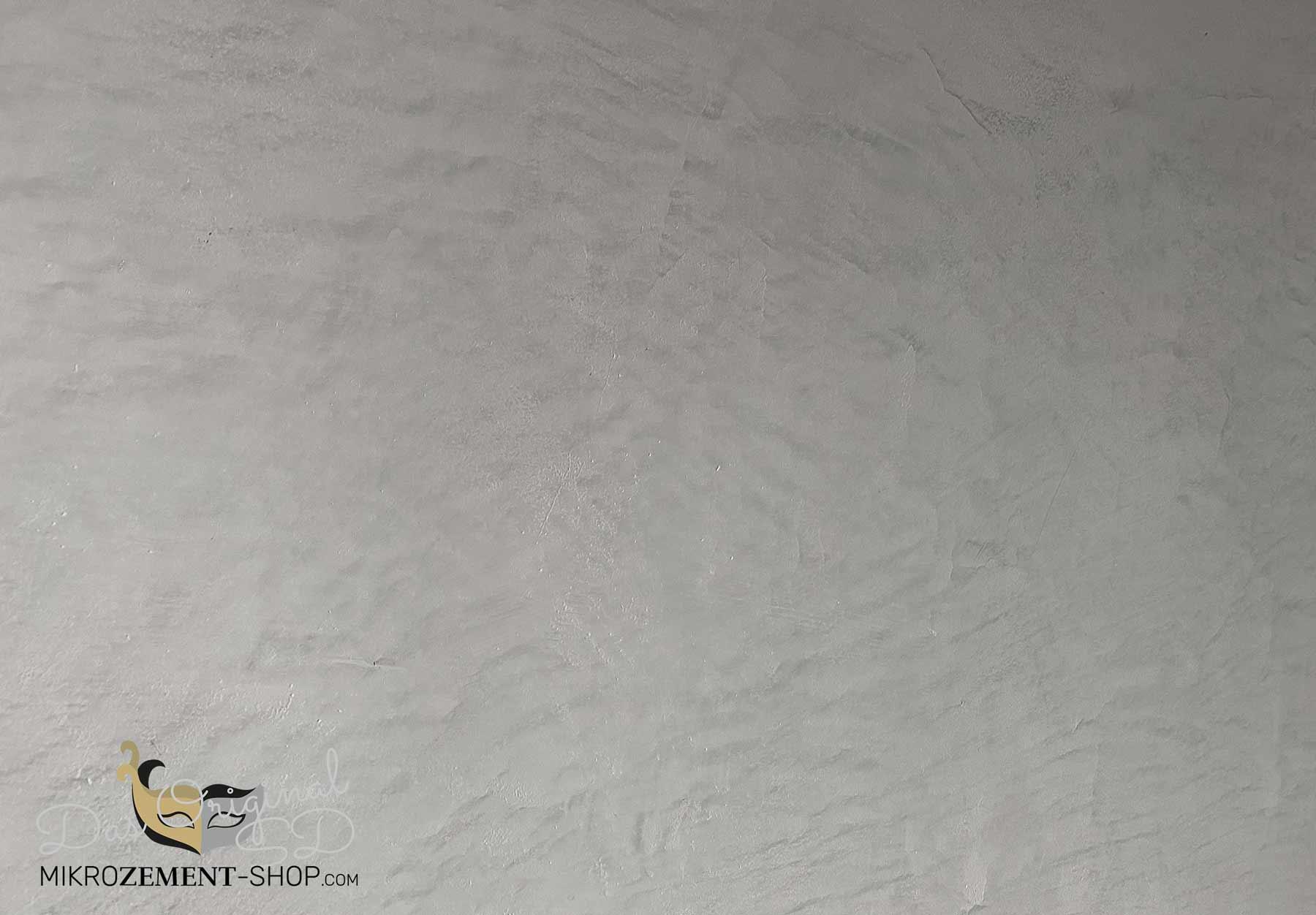 Mikrozement Küchenwand Finisch Schicht 1 mit Effekt