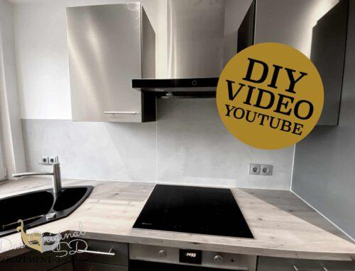 Mit Microzement eine Küchenrückwand in der Küche spachteln