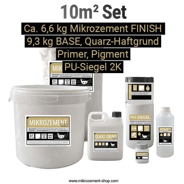 microzement set mit 10m2 und quarz-grund