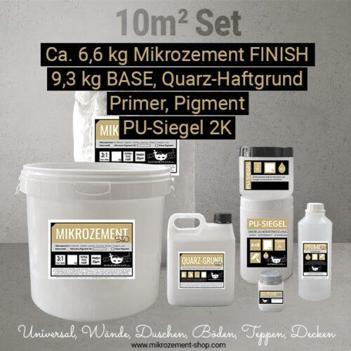 mikrozement microzement set 10m2 mit Quarz-grund