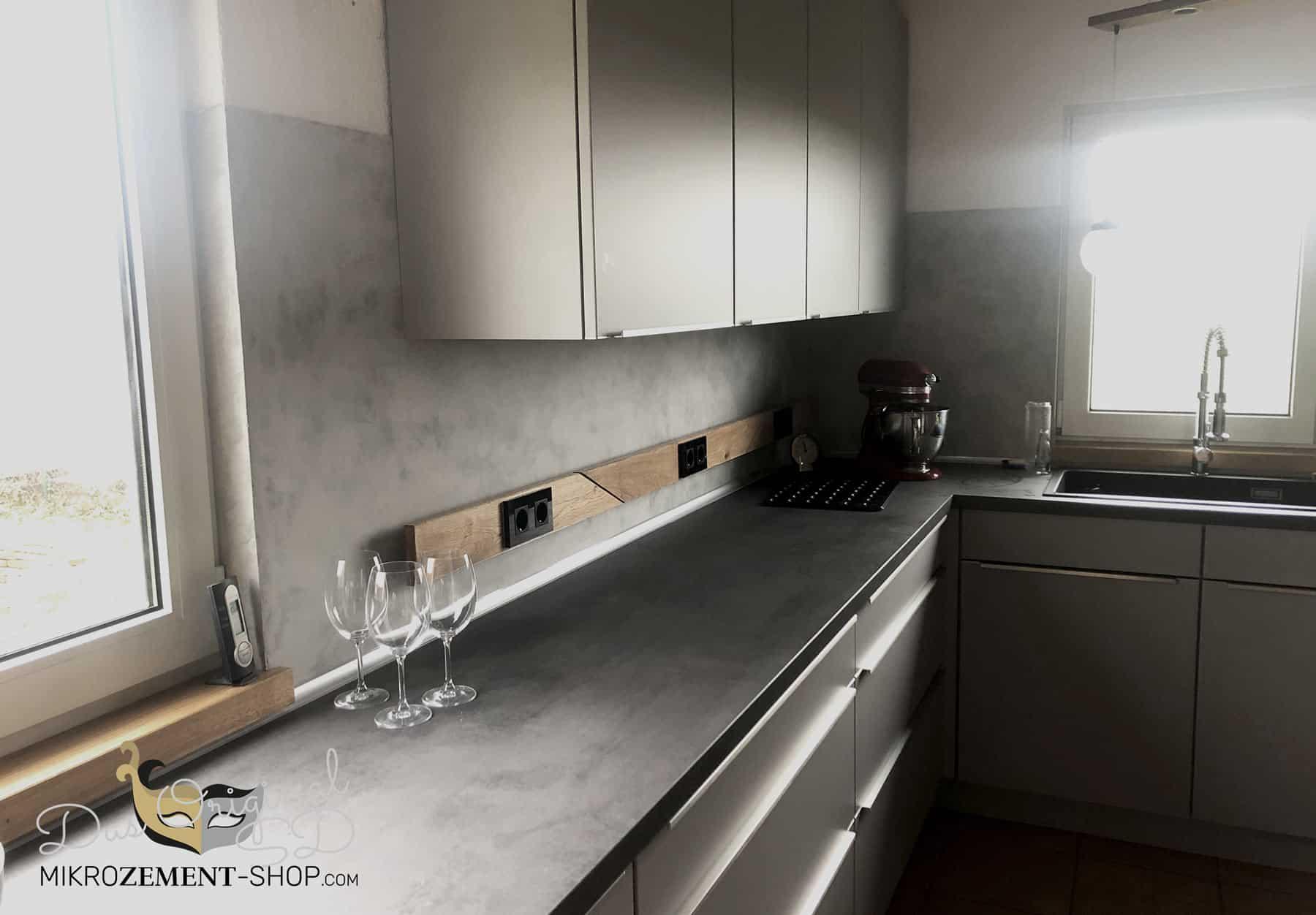 Moderne Mikrozement Küche