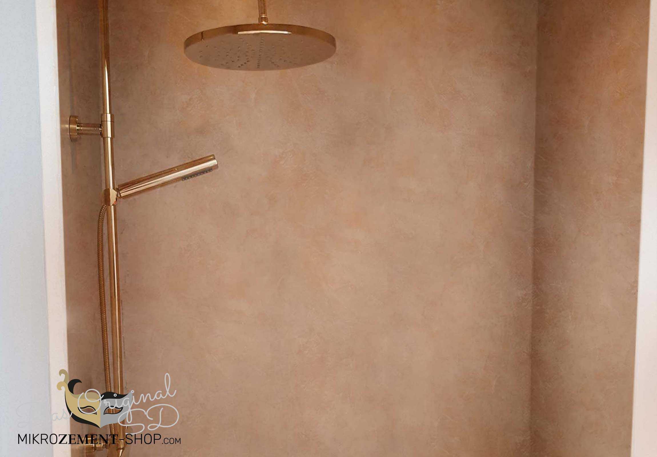 Mikrozement in Farbe in der Dusche