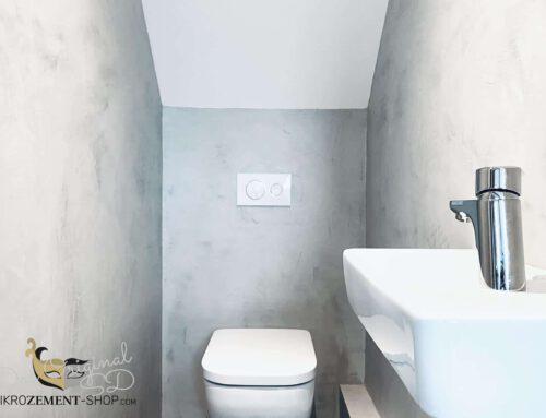 Mikrozement im WC aus Rigipswänden