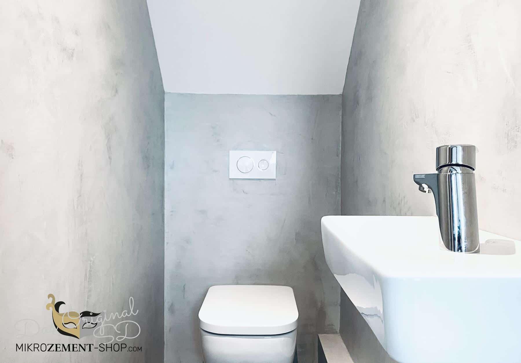 Mikrozement Badezimmer klein