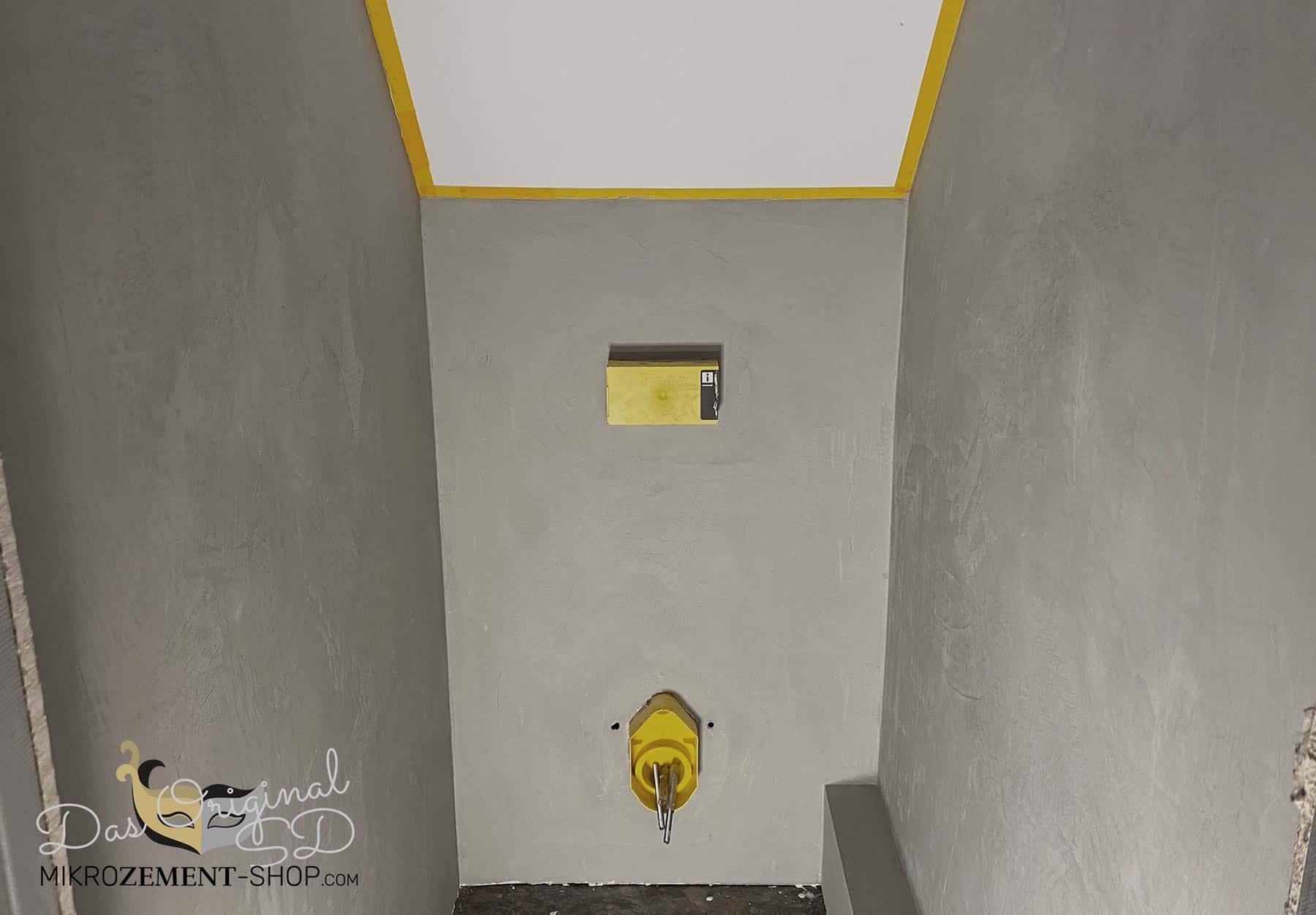 Mikrozement im WC finish