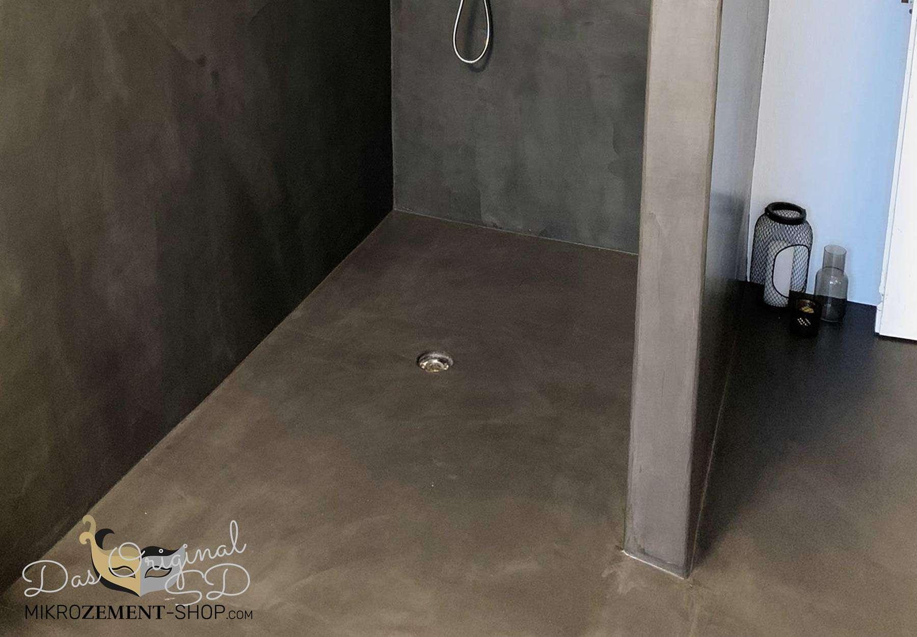 Microzement Dusche mit Mikrozement