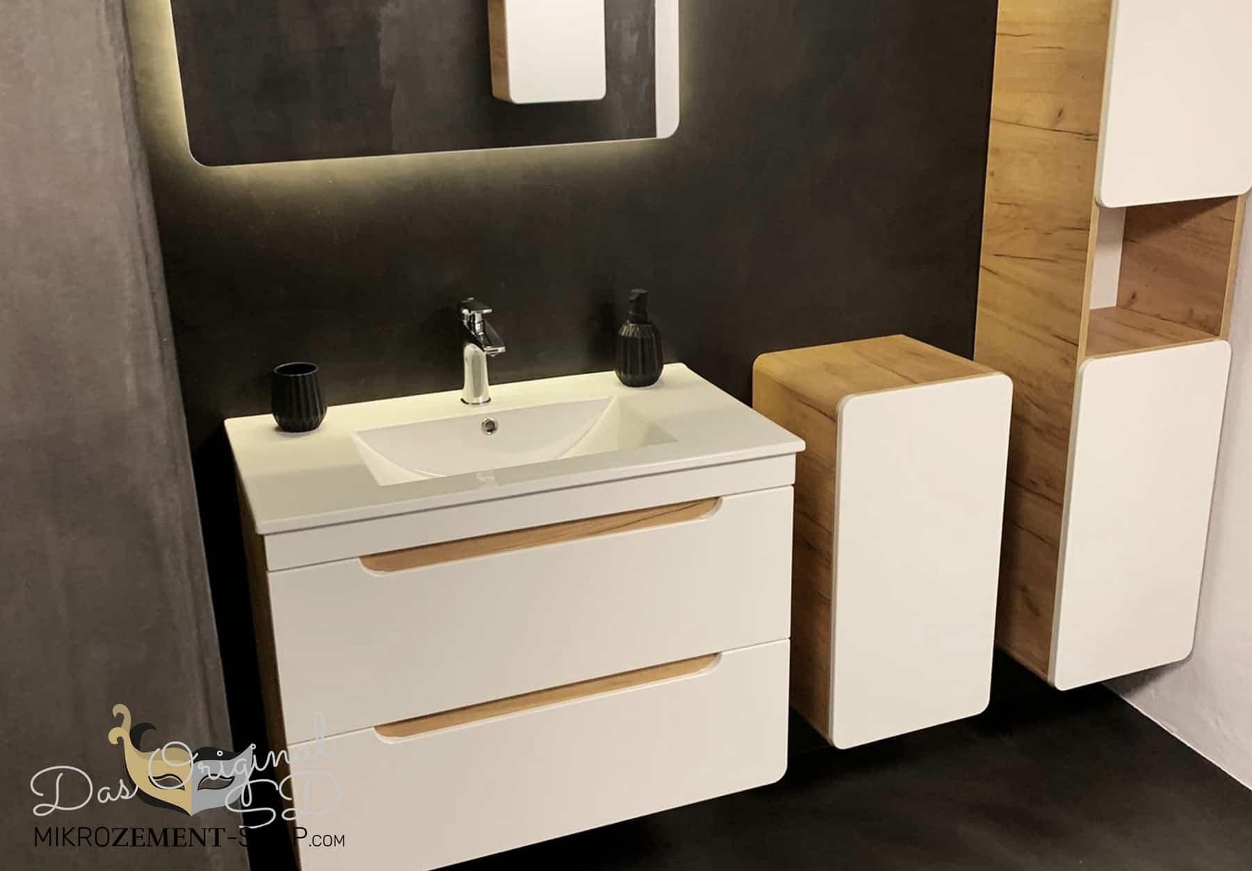 Mikrozement Badezimmer Dusche in Mikrozement