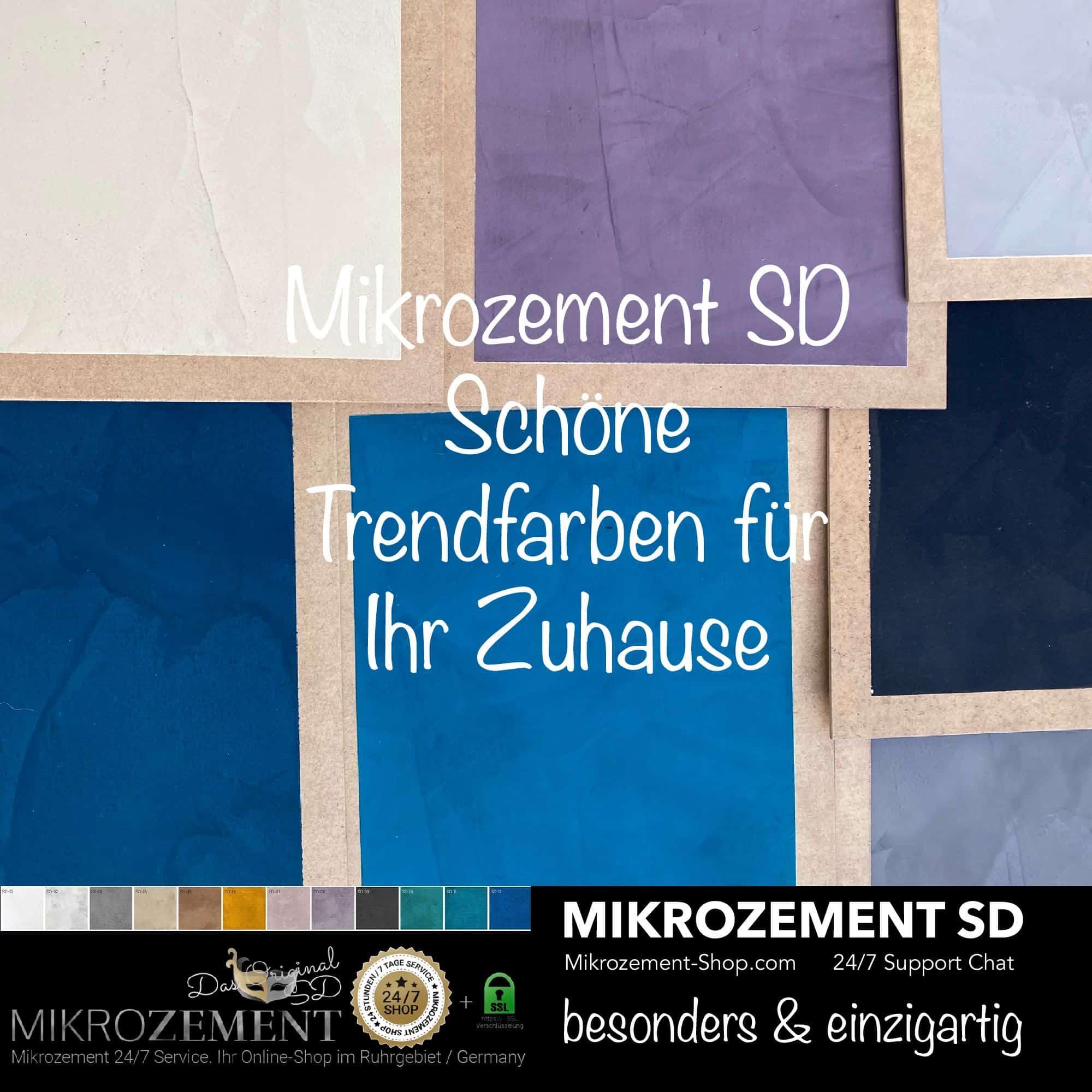 Mikrozement SD in allen Farben