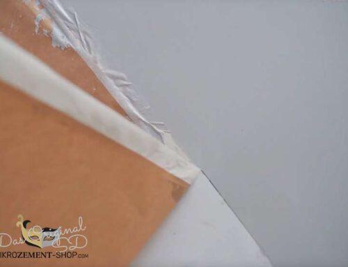 Mikrozement abkleben und sauber arbeiten!