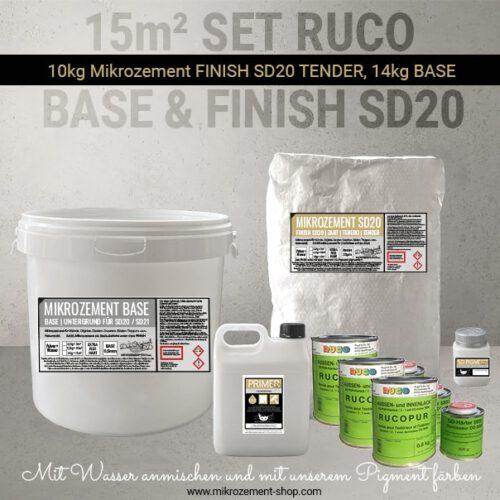 15 M2 Set Mikrozement lösemittelbasiert mit RUCO