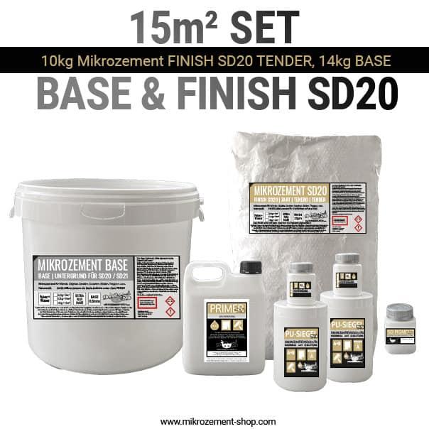 15 m2 Set Mikrozement SD mit Siegel und Primer