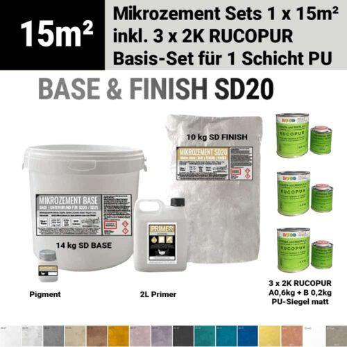 Bestes wasserdichtes Mikrozement SD mit 1 Schicht Rucopur Lack