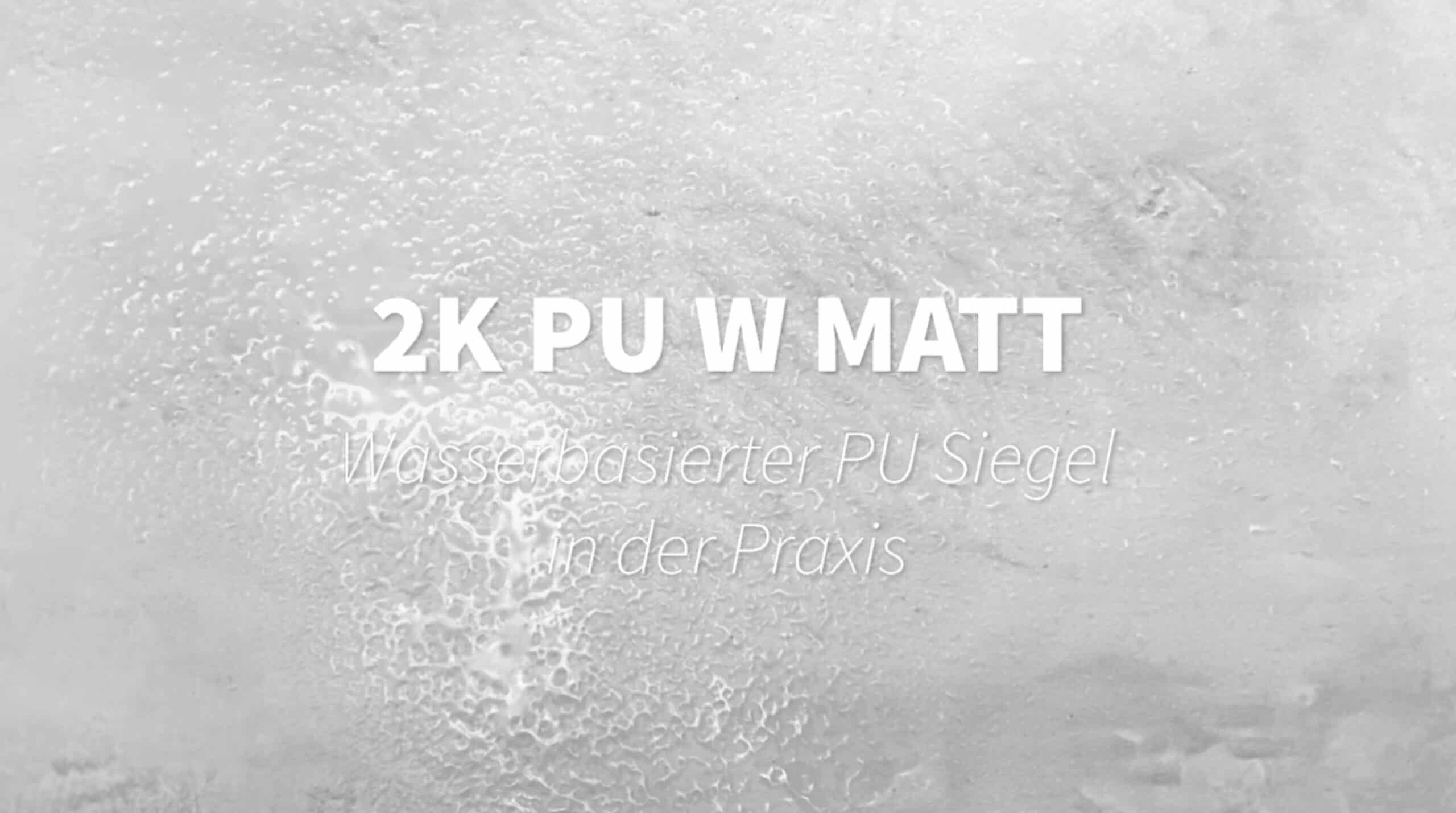 2K PU w Matt wasserbasierter Siegel mikrozement wasserdicht