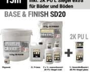 Mikrozement Set 15m² FINISH & BASE inkl. 2L Primer & 3L Siegel extra für Böden & Duschen