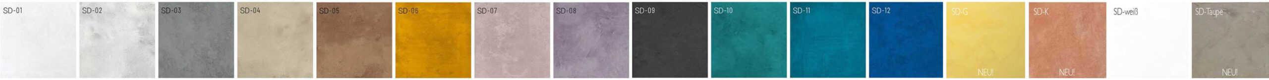 Mikrozement SD Microzement pigmente extra beständig und leicht lösbar