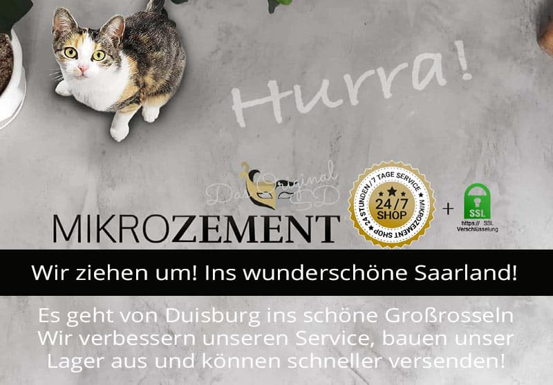 Größter Mikrozement Hersteller Deutschland zieht um nach Saarland