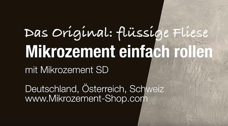 Mikrozement Microzement SD Finish einfach rollen