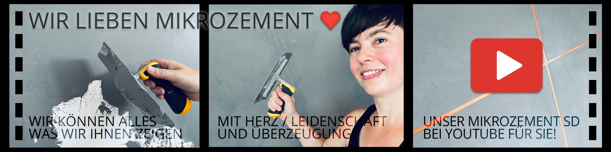 Mikrozement SD Microzement bei Youtube in der PRaxis