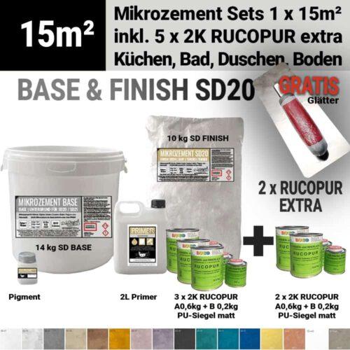 Bestes wasserdichtes Mikrozement SD mit 1 Schicht Rucopur Lack extra